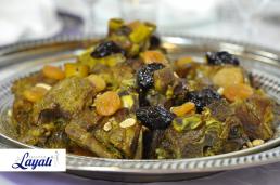 Marokkaanse keuken Lamstajine met pruimen