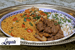 Turkse catering rijst en kip